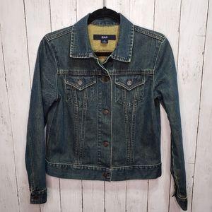 Gap Denim Jean Jacket Size Medium Button Up.